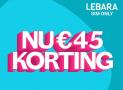 Lebara sim only € 30 cashback korting